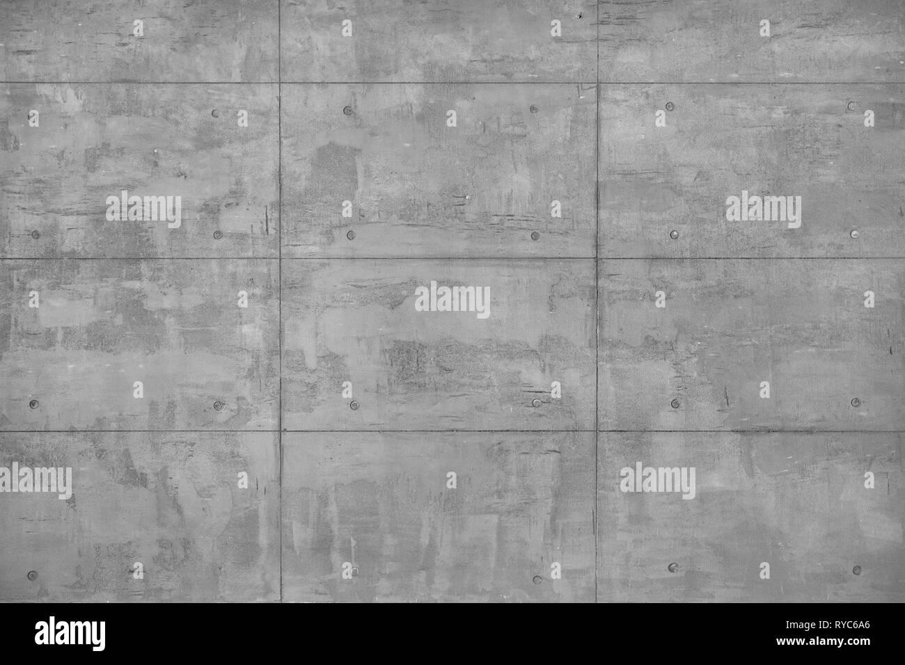 Verputzt dekorativen Beton Wand als Vollbild im Hintergrund. Stockbild