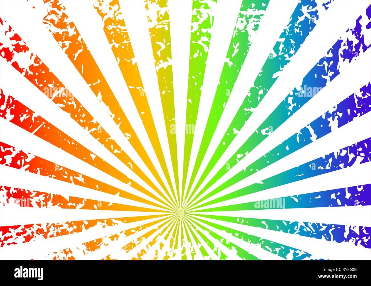 Grunge sunrise Hintergrund - Regenbogen Stock Vektor