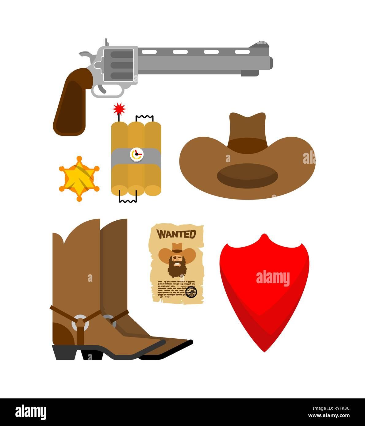 Und SymbolWild Stiefel Western Cowboy Zubehör SetHut FTK1Jlc