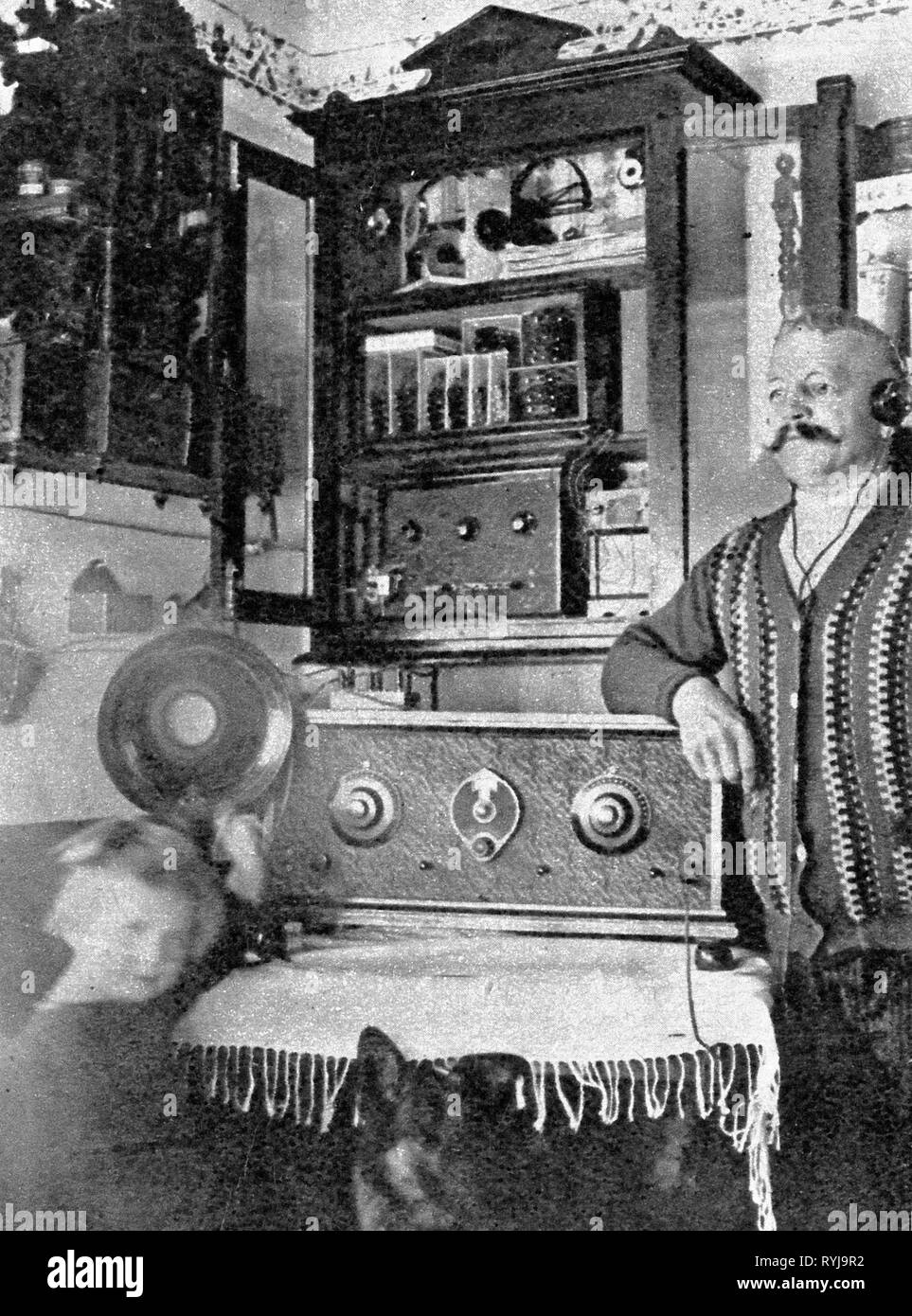 Rundfunk, Radio, Radios, self-made Radio set, Deutschland, 1929, Additional-Rights - Clearance-Info - Not-Available Stockfoto