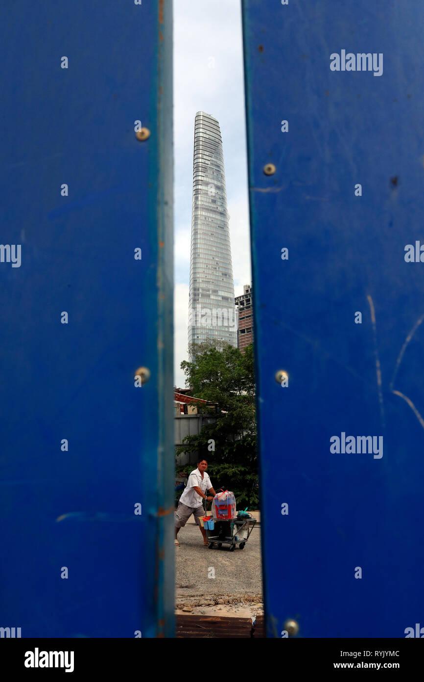 Bitexco Financial Tower. Bezirk 1. Ho Chi Minh City. Vietnam. Stockbild