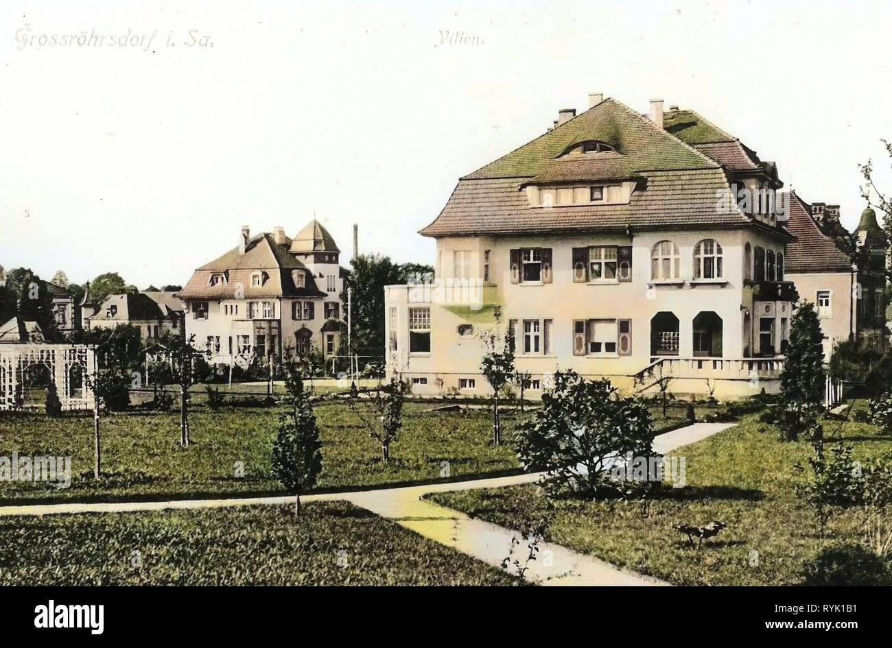 Villen in Sachsen, Gebäude in Großröhrsdorf, 1913, Landkreis ...