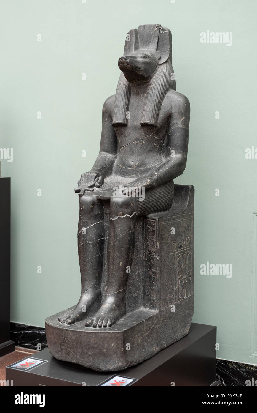 Anubis grosse Figur ägyptische Statue Skulptur Ägypten 90005