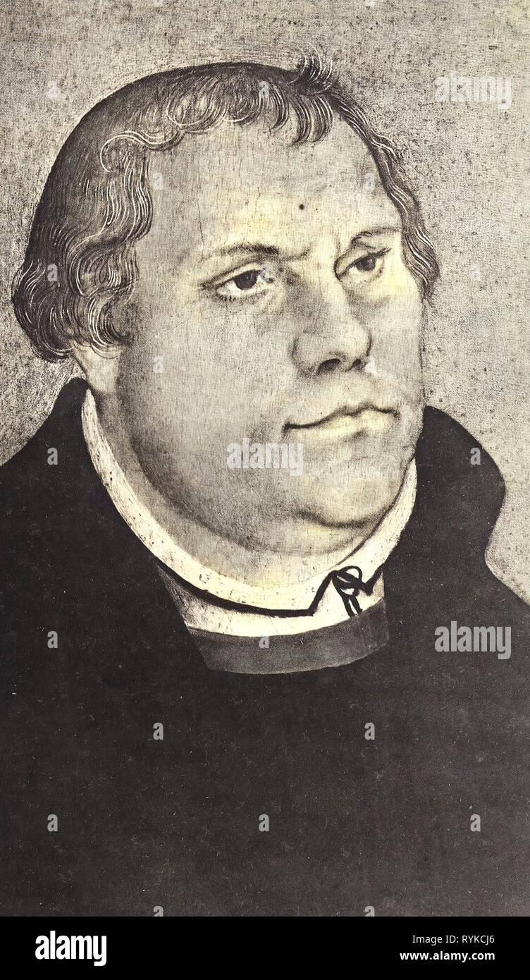 Lucas Cranach d.J. Bildnis Phiipp Melanchthons Postkarte