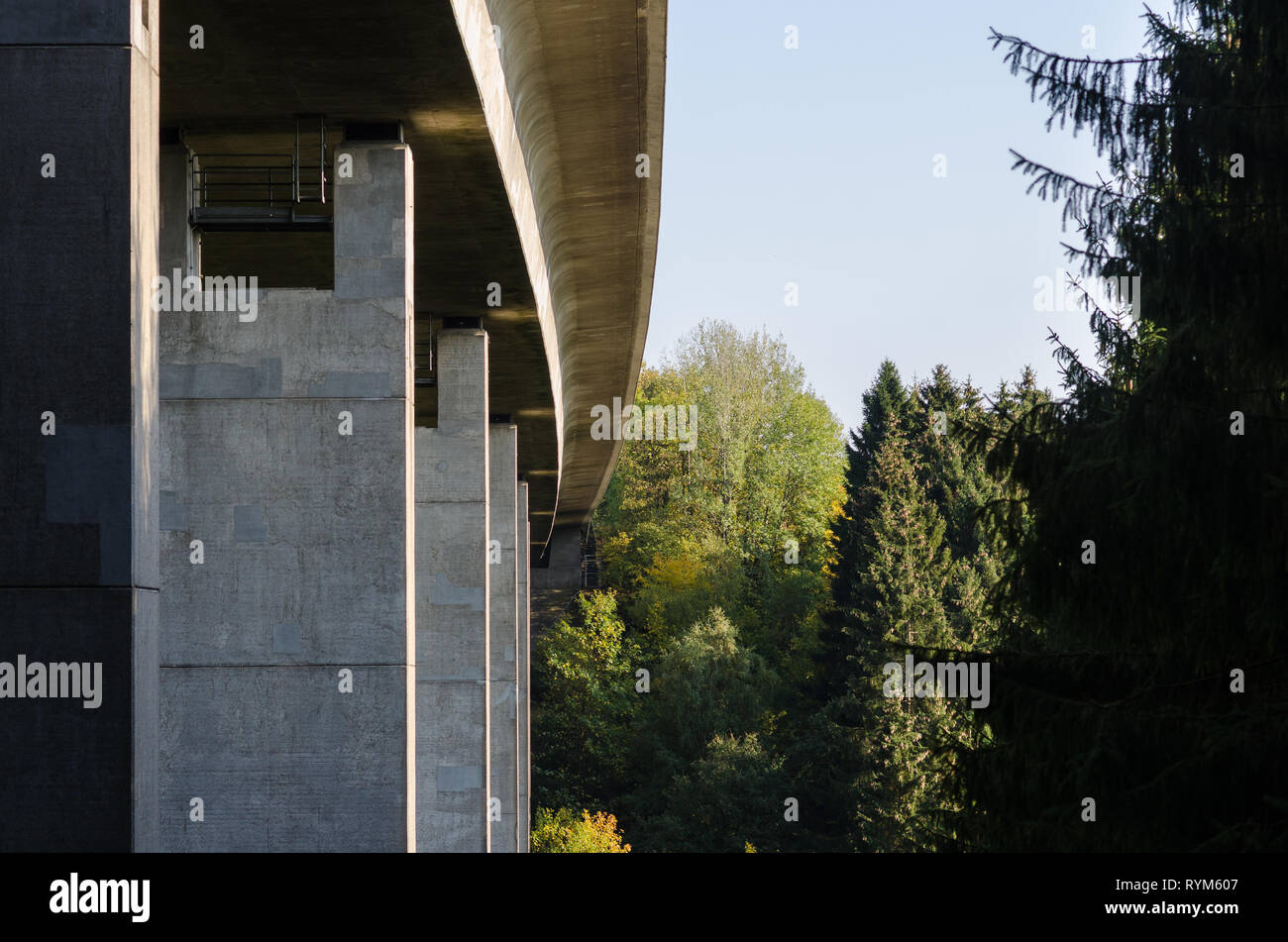 Autobahn Brücke A45 Stockbild
