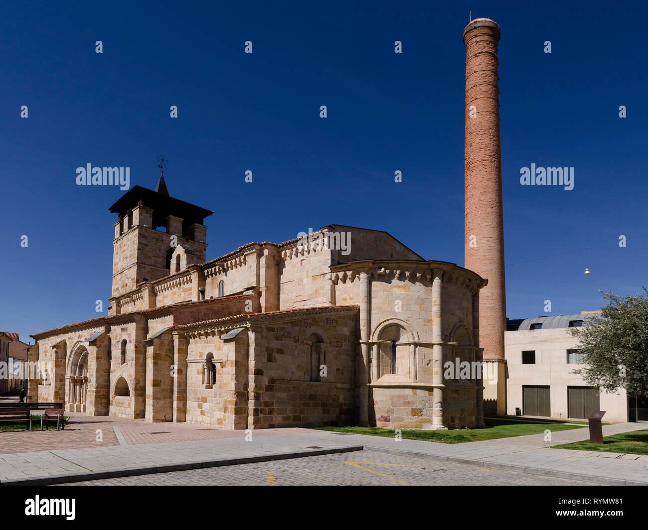 Iglesia Santa Maria de la Horta de Zamora Stockfoto