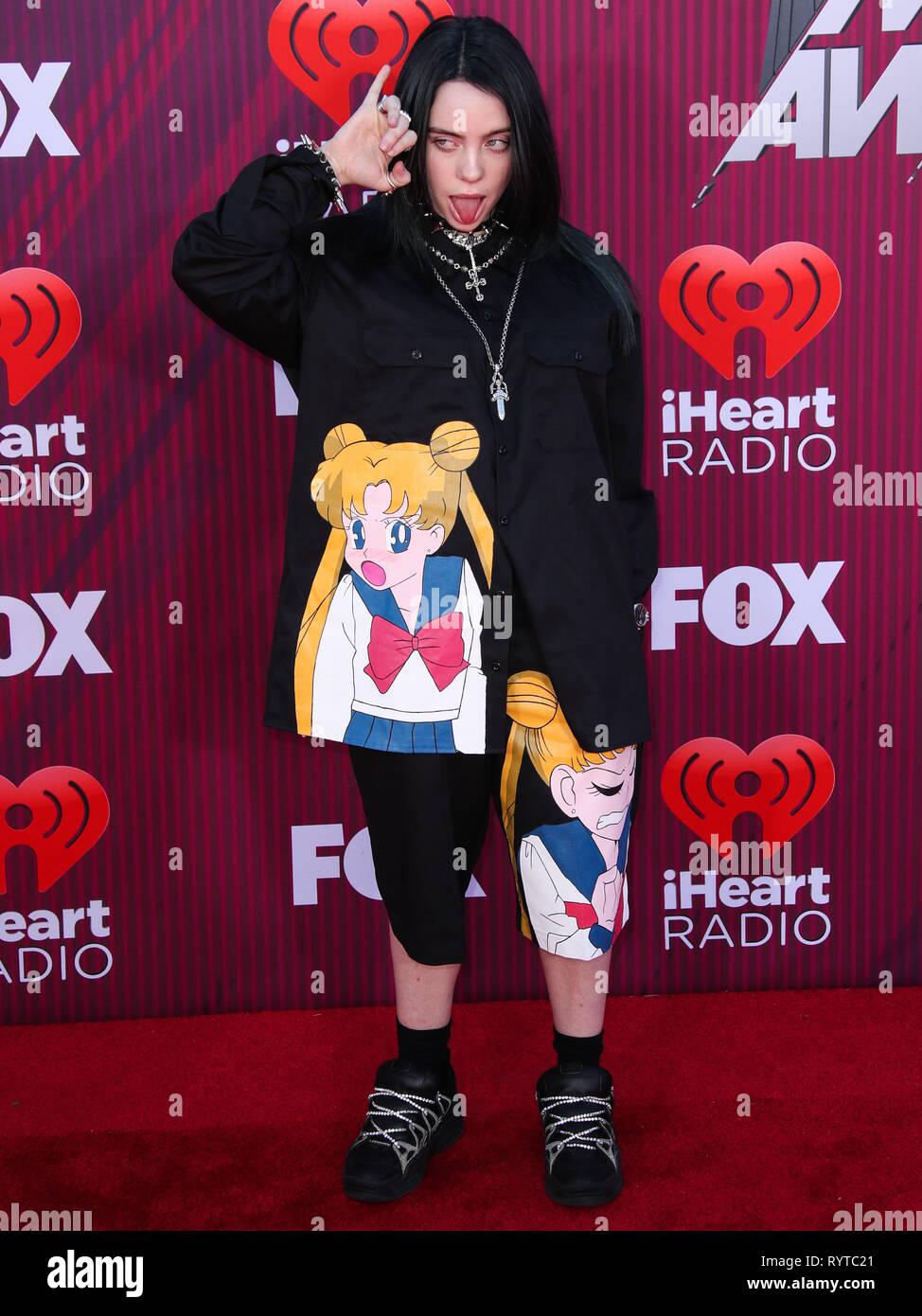 Los Angeles Ca Usa 14 Marz Sangerin Billie Eilish Kommt An Der 2019 Iheartradio Music Awards
