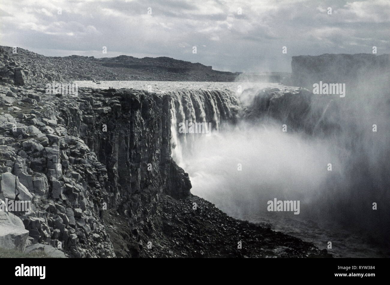 Geographie/Reisen, Island, Wasserfall Dettifoss, 1957, Additional-Rights - Clearance-Info - Not-Available Stockbild
