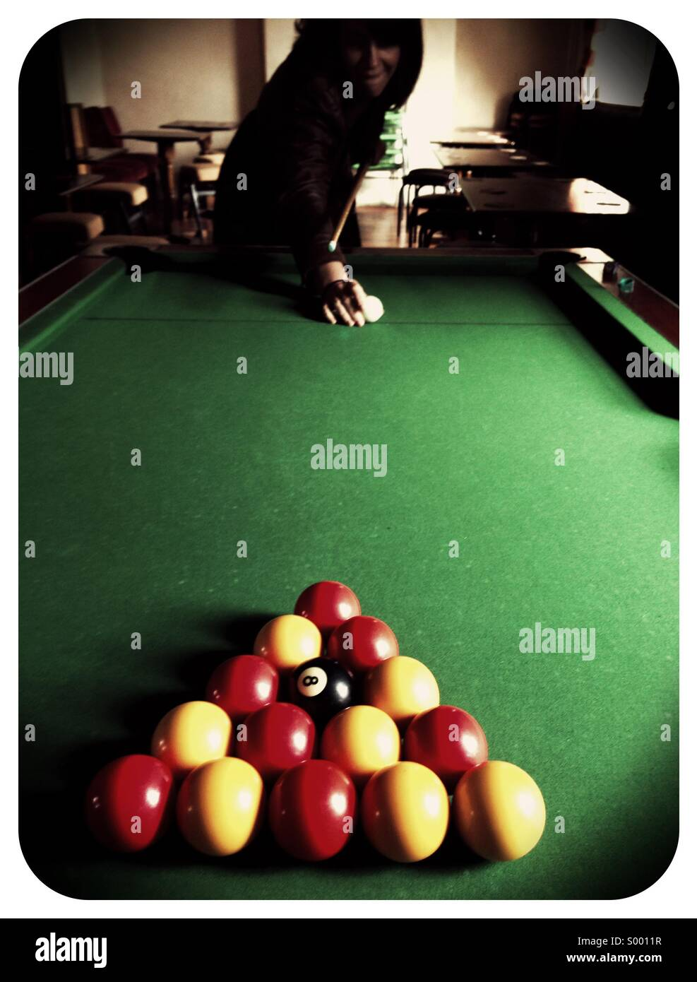 Pool spielen Stockfoto