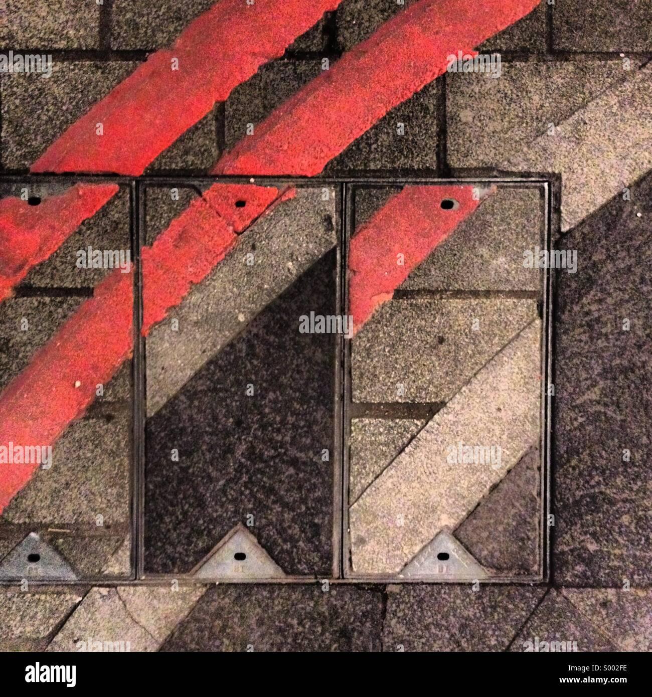 Abstrakte Straßenmuster Stockbild