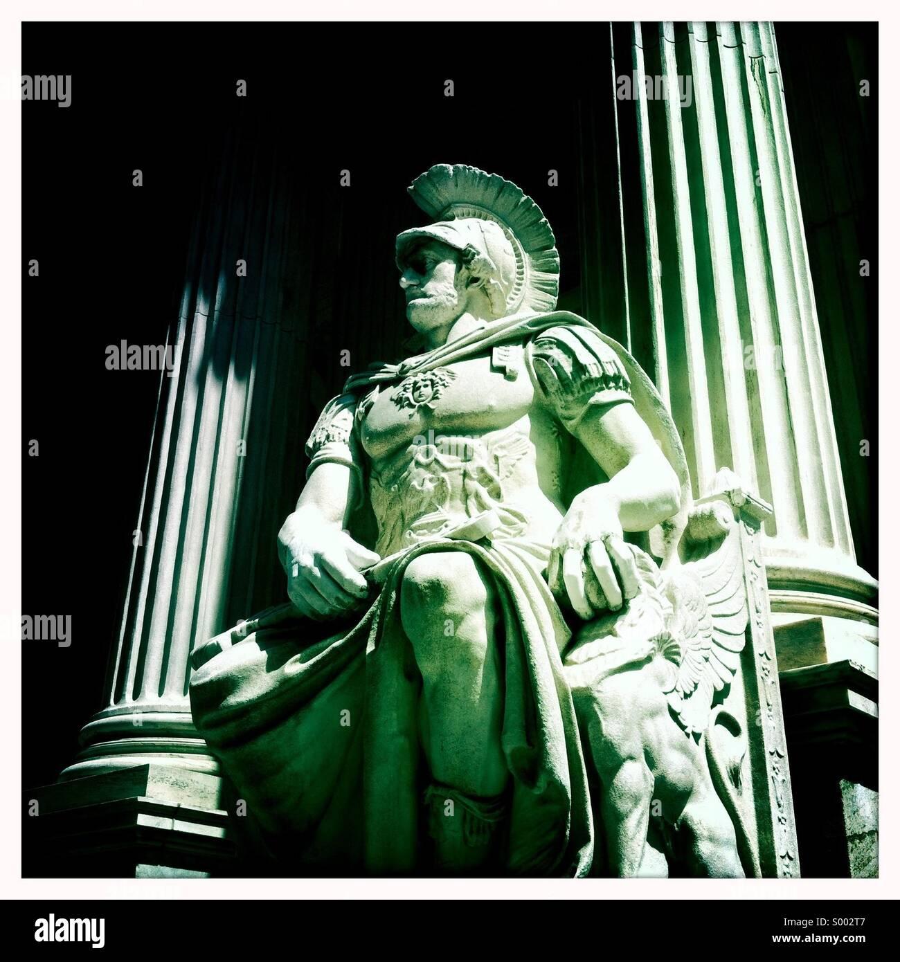 Römische Statue der Gerechtigkeit Gerichtshaus Stockbild
