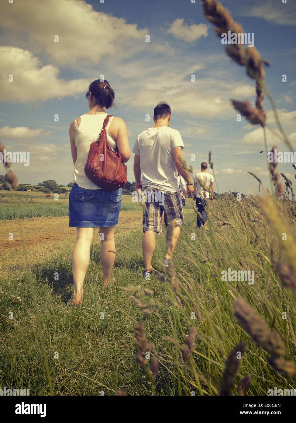 Landschaft zu Fuß Stockbild
