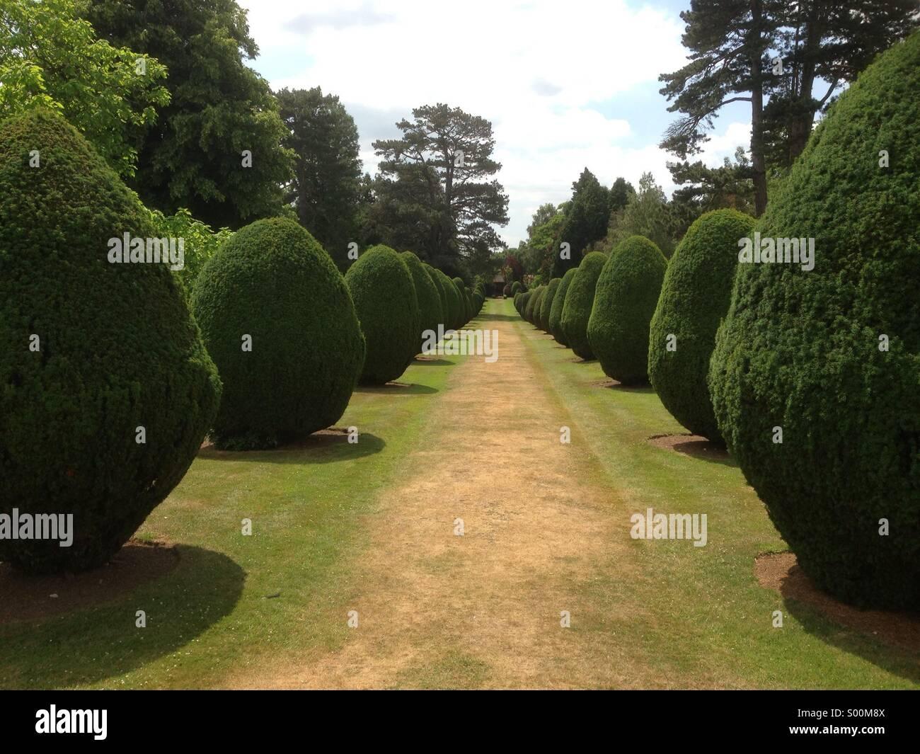 Kunstvolle Gärten Stockbild