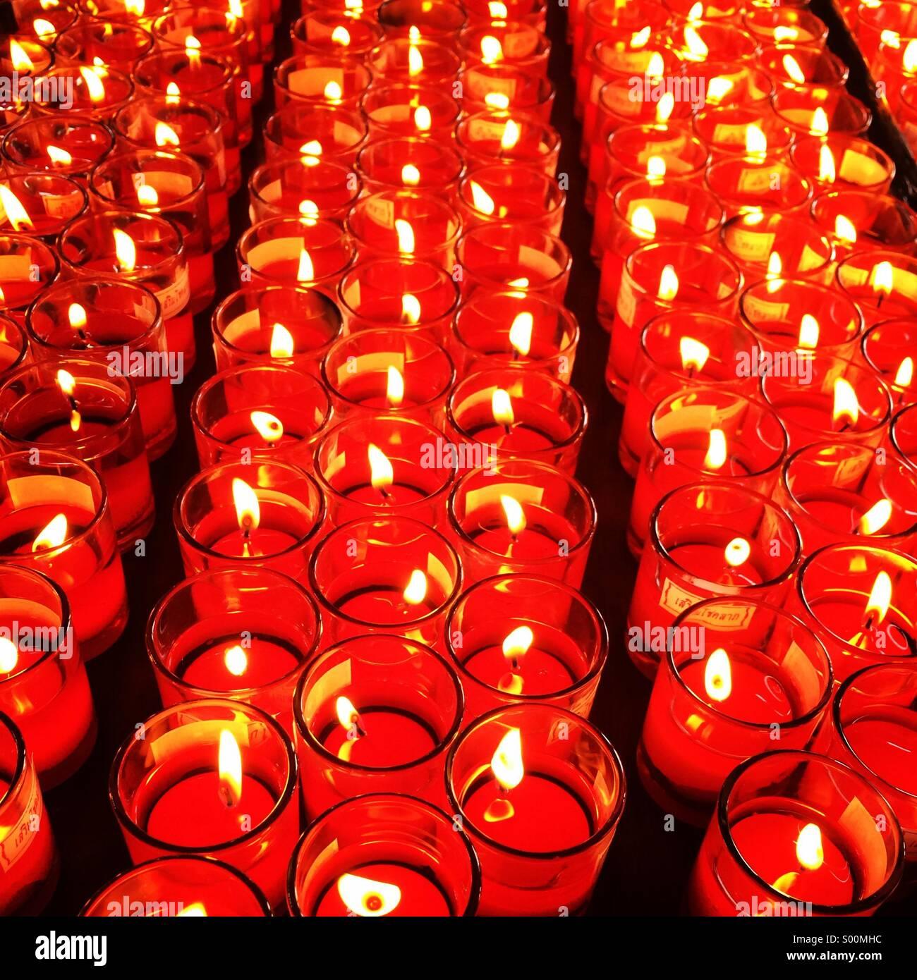 Candle-light Stockbild