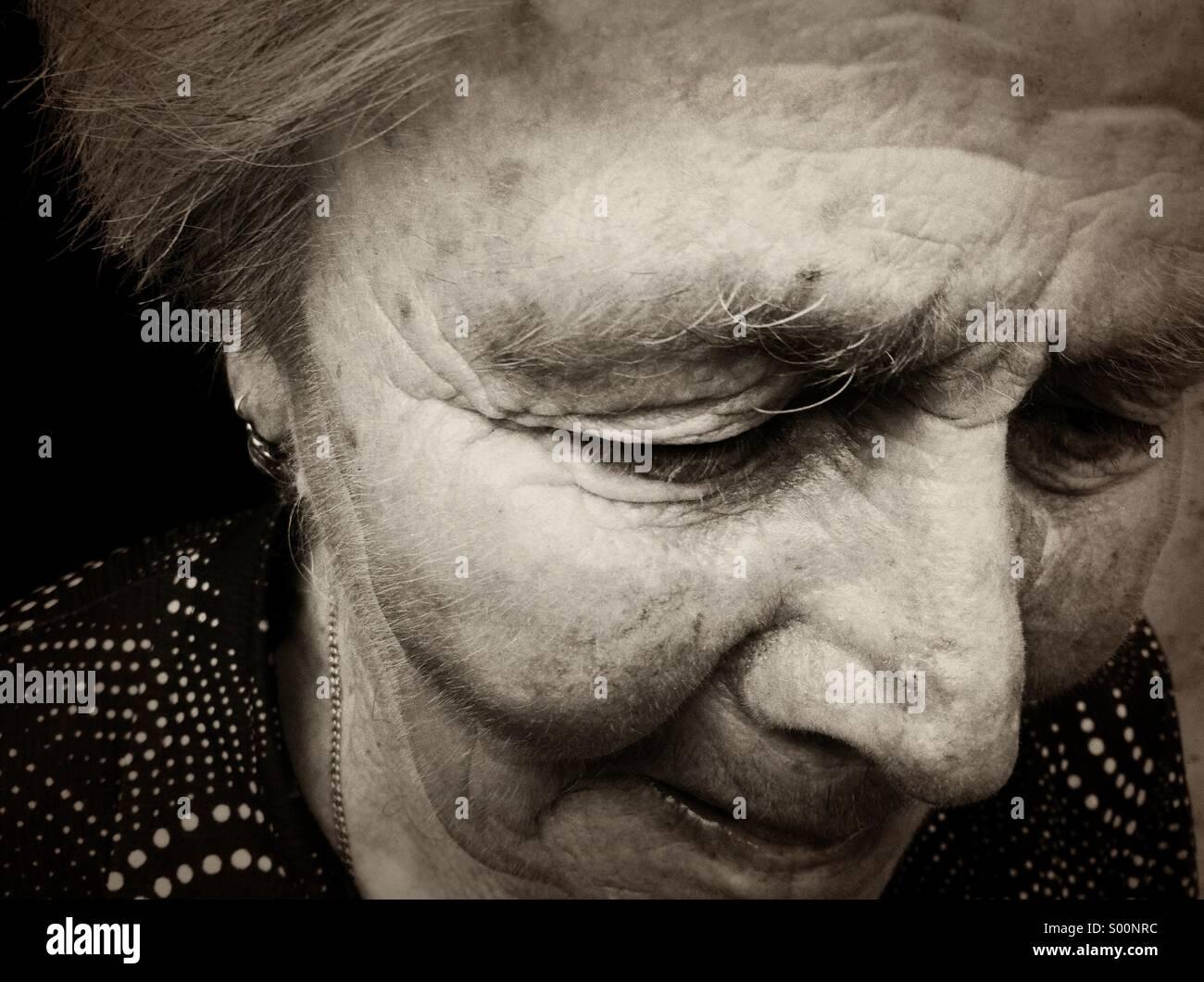 Alte Frau Stockbild