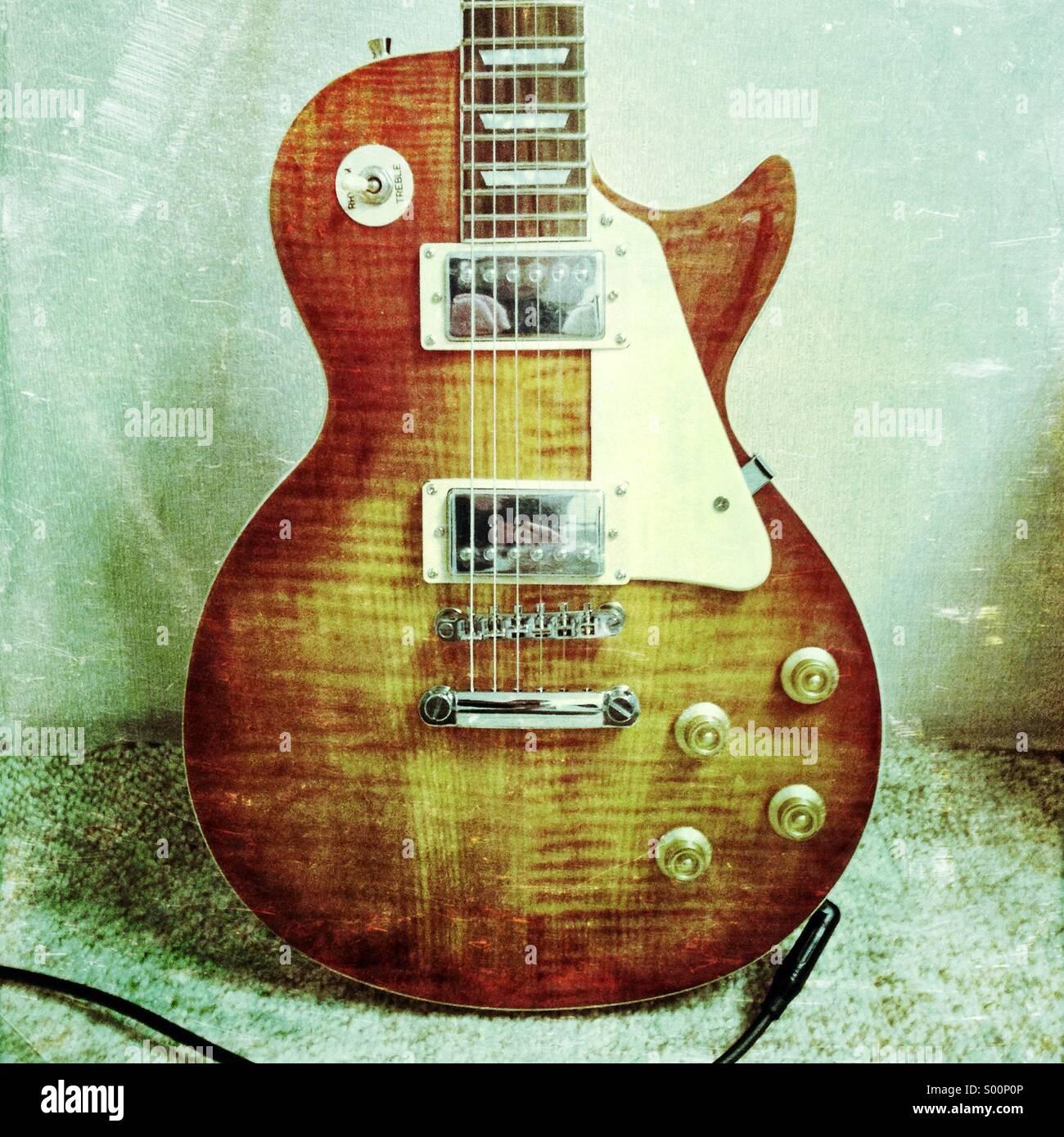 E-Gitarre. Stockbild