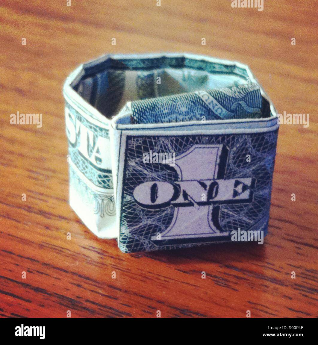 Origami Money Dollar Bill Ring - Best Step by Step Instructions | 1152x1062