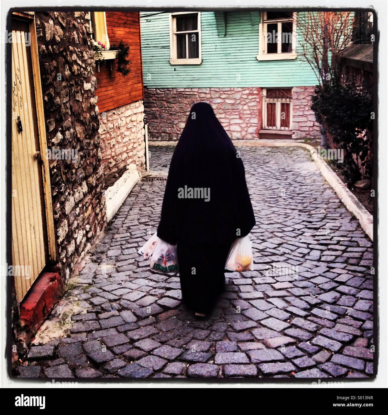 Die muslimische Frau-Istanbul-TürkeiStockfoto