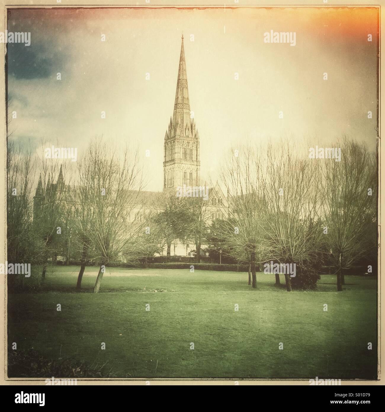 Kathedrale von Salisbury Stockbild