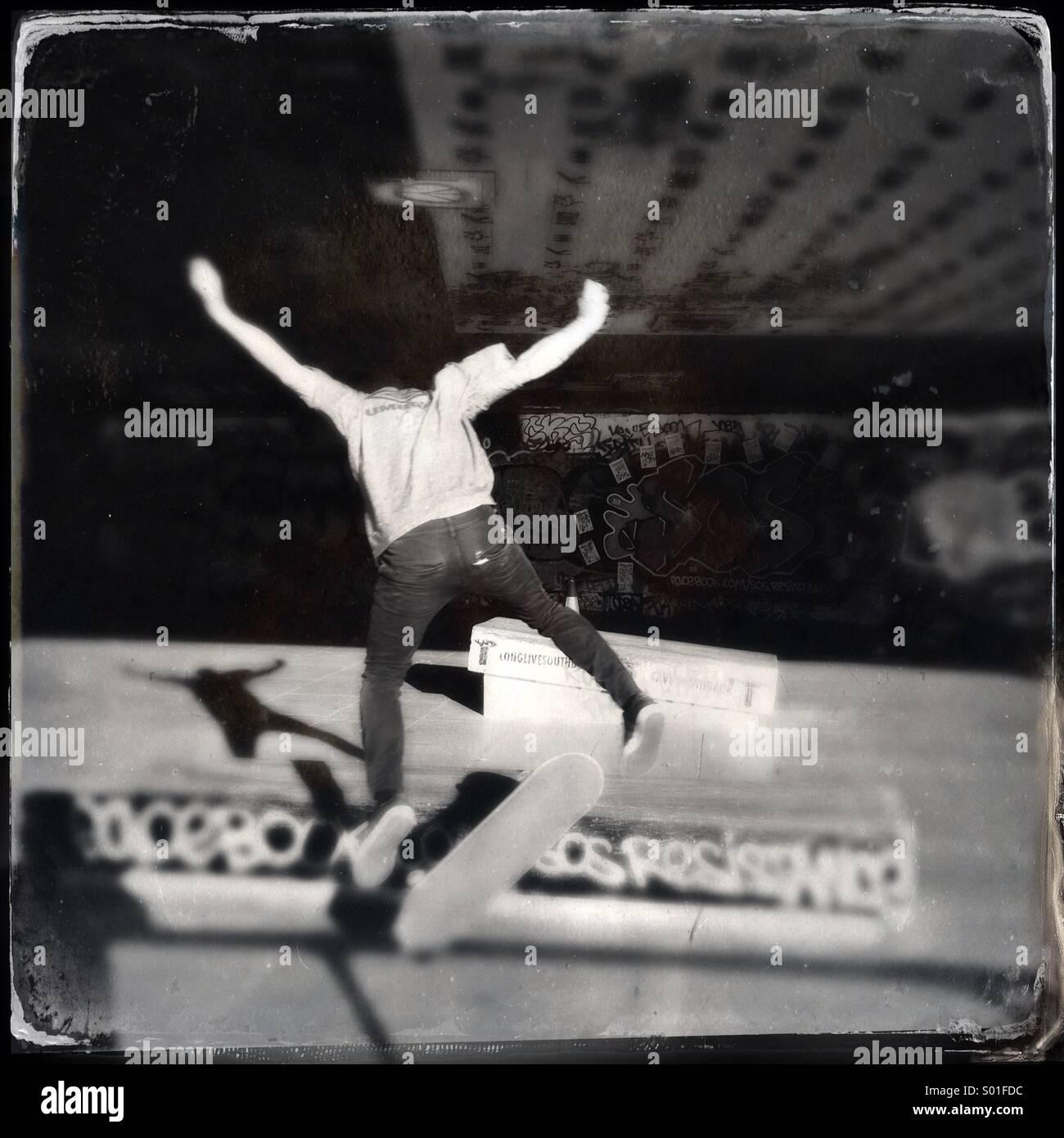 Skateboarder Stockbild