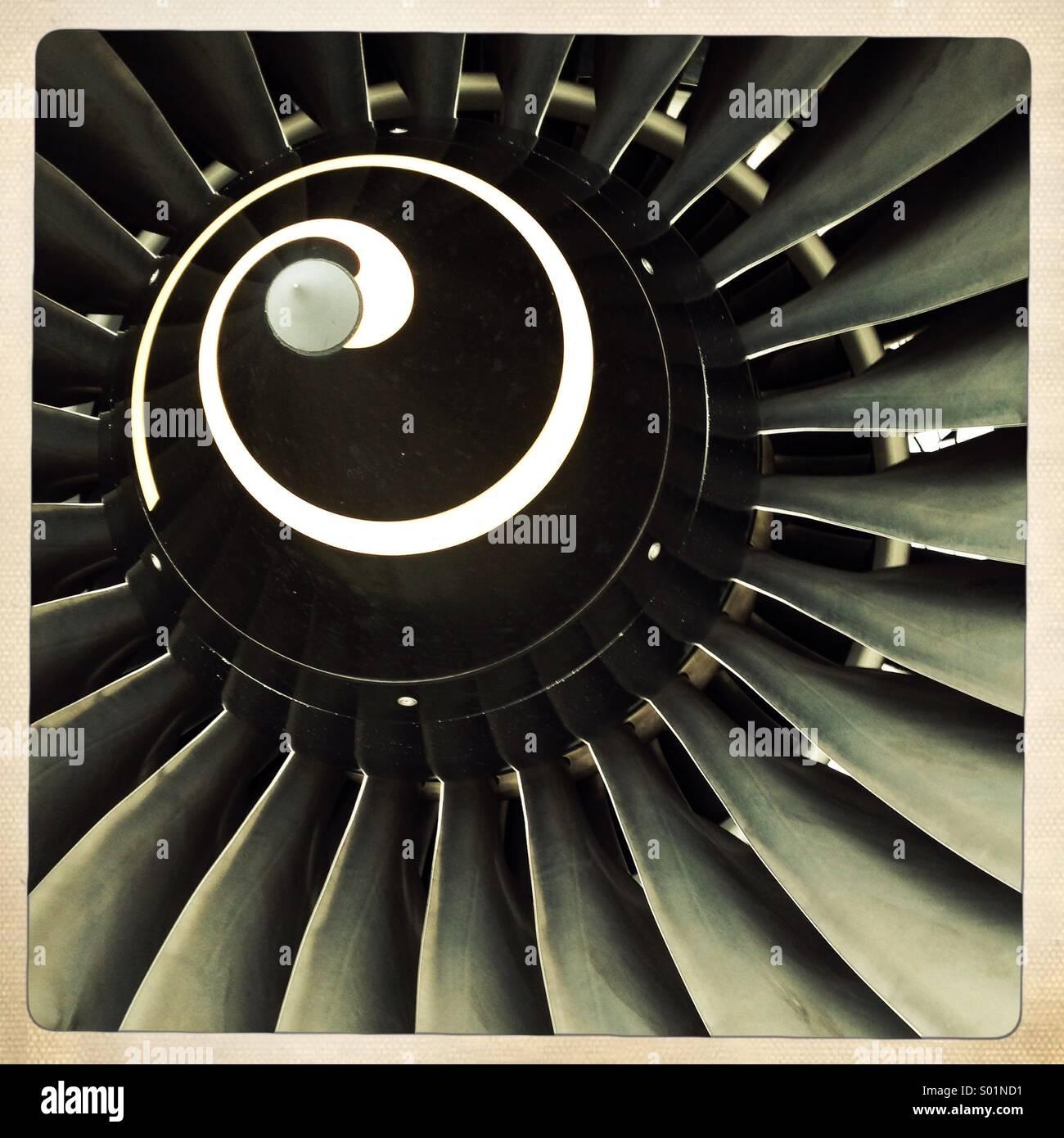Flugmotor Stockbild