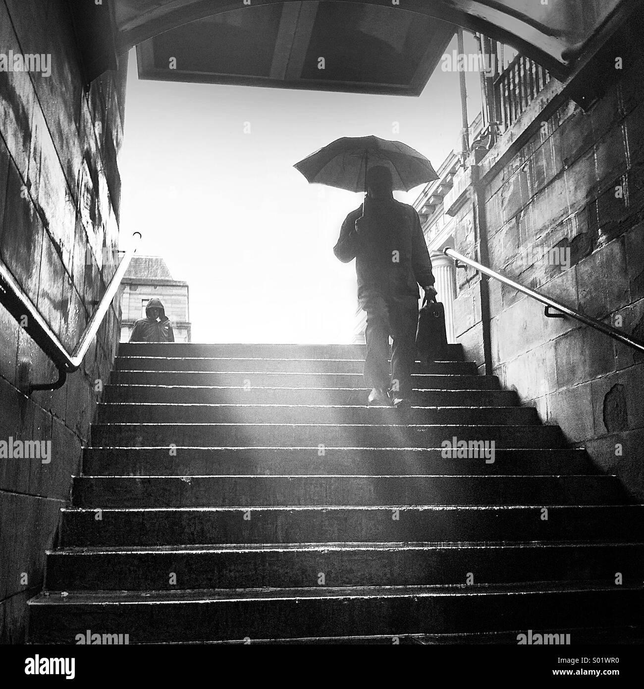 Regentag Stockbild