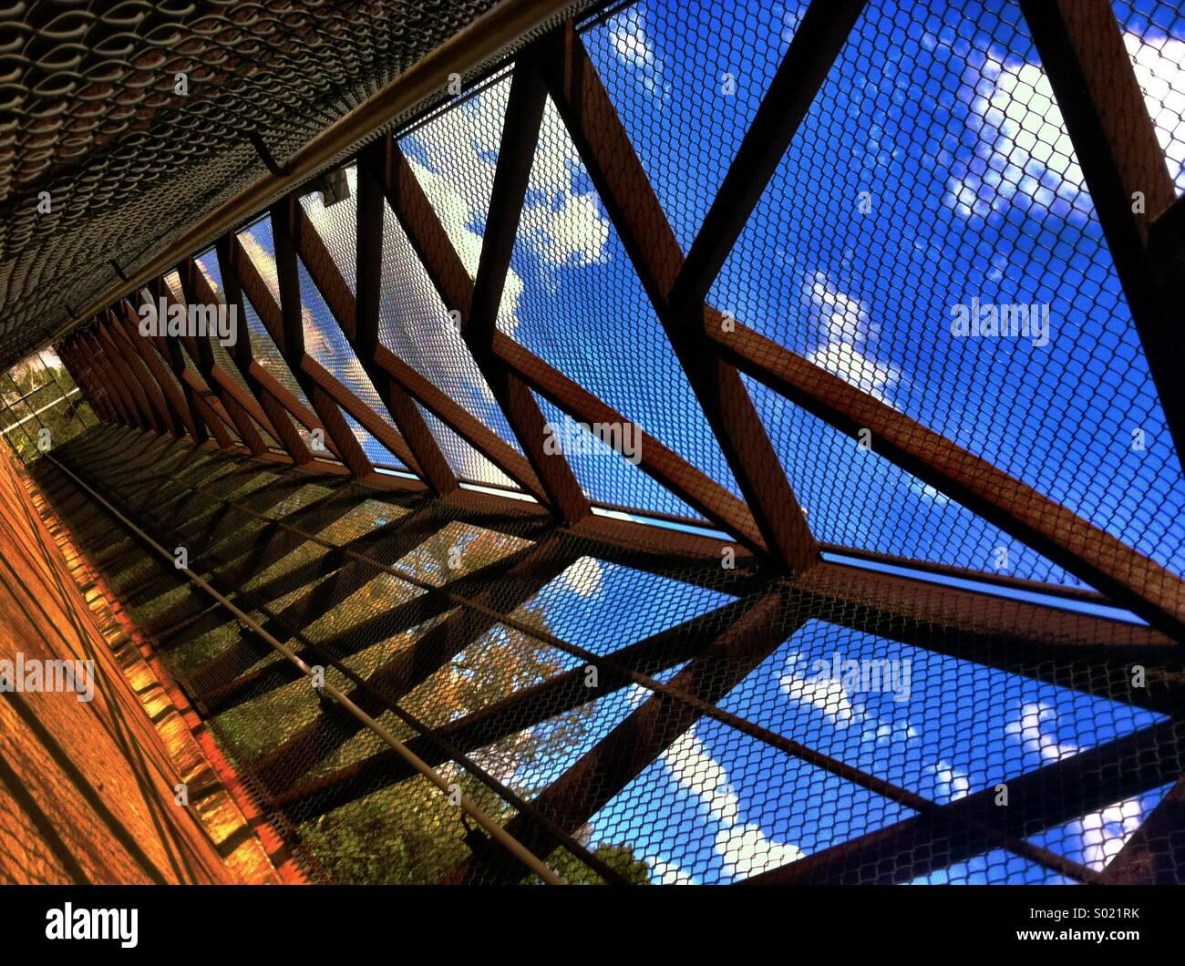 Fußgängerbrücke Stockbild