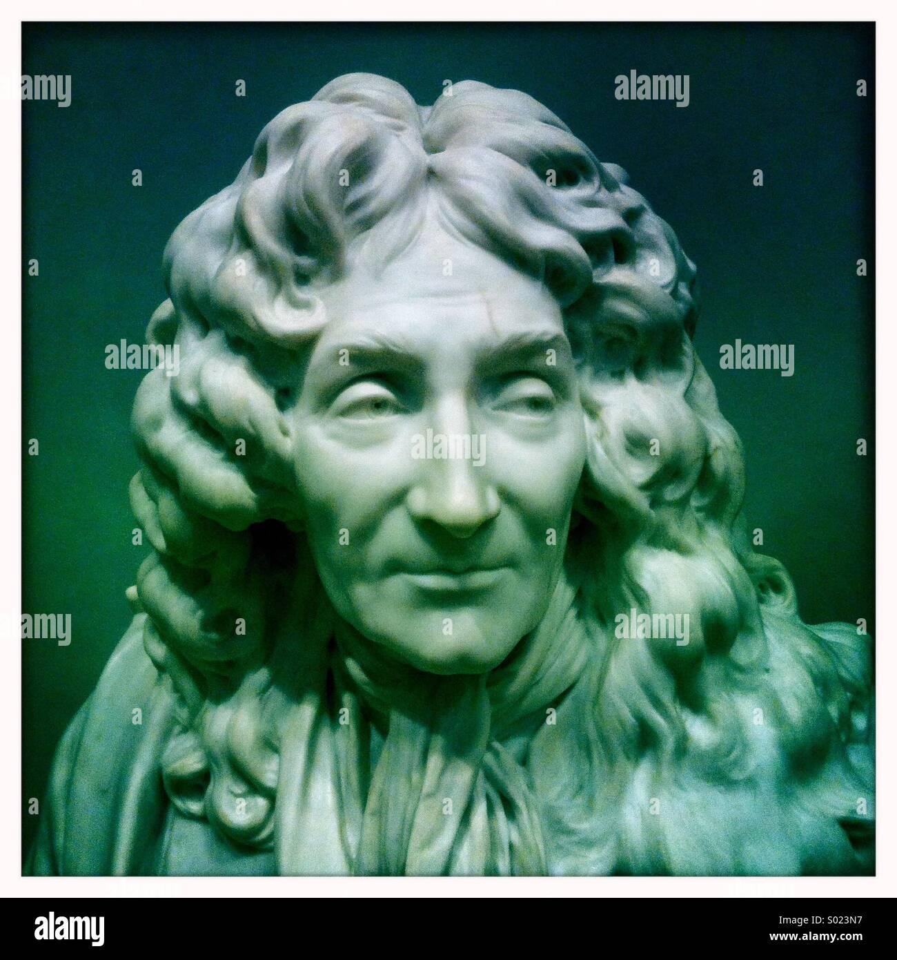 Marmorstatue eines Mannes. Stockbild