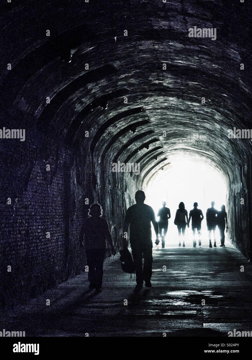 Tunnel Stockbild