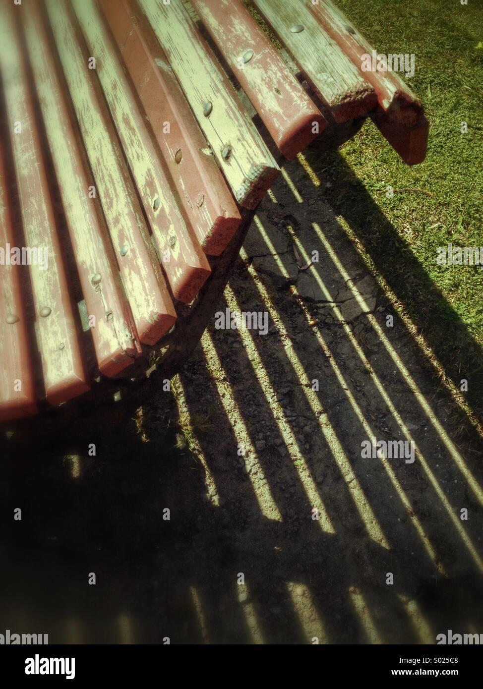 Alten öffentlichen Garten-Sitzplatz Stockbild