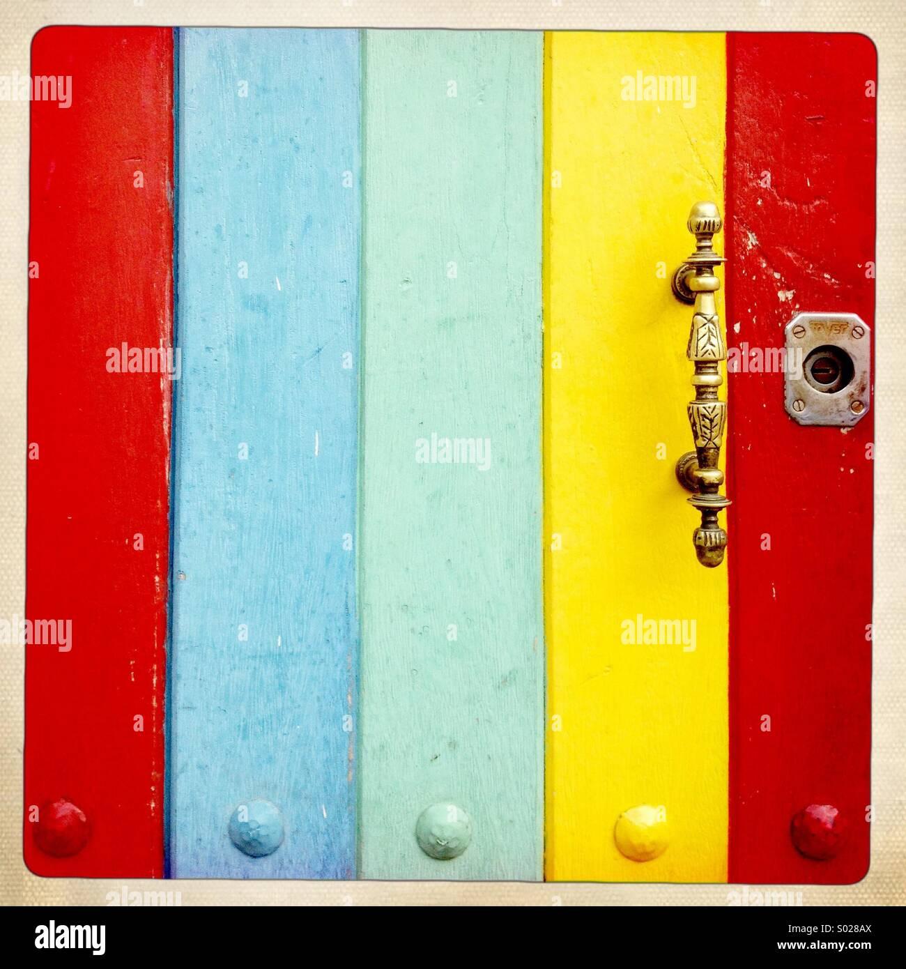 farbige Tür Stockbild