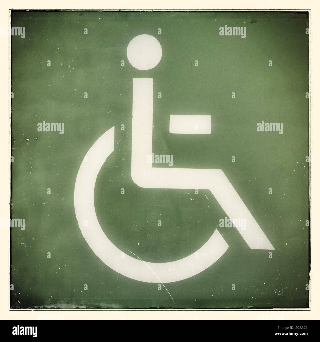 Behindertengerechte Anlage-symbol Stockbild