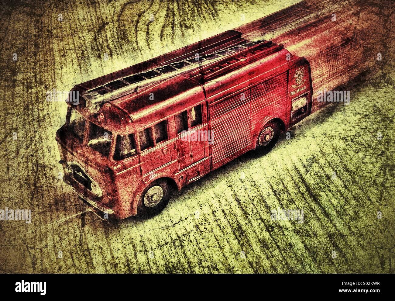 Feuerwehrauto Stockbild