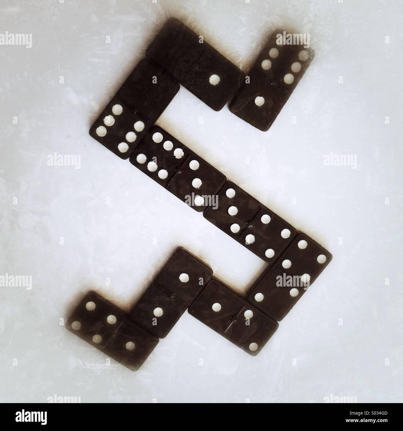 Domino-Spiel Stockbild