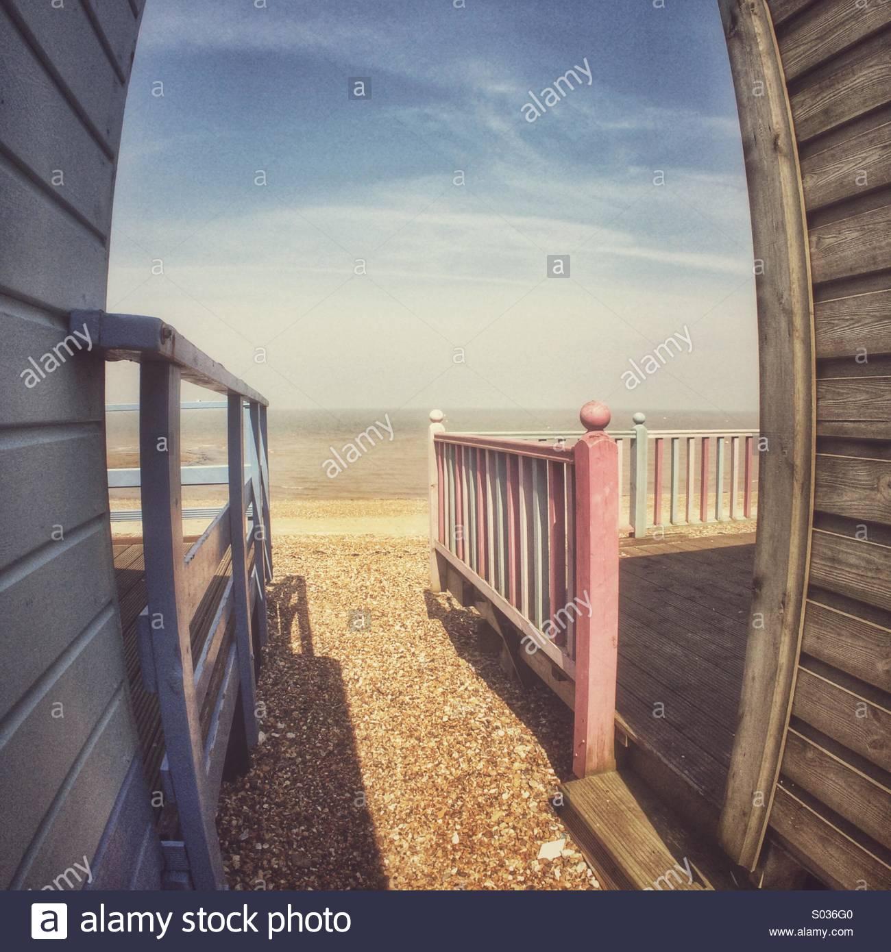 Am Meer-Nostalgie Stockbild
