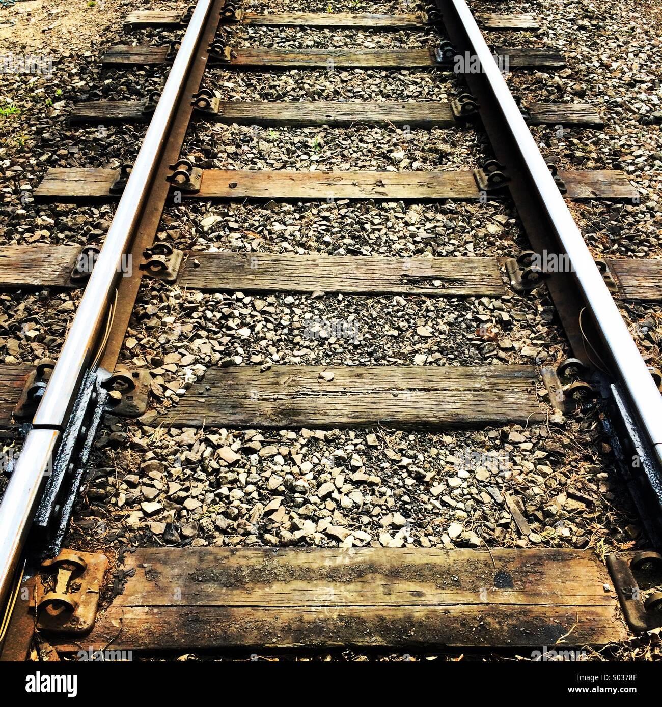 Bahnstrecke. Stockbild