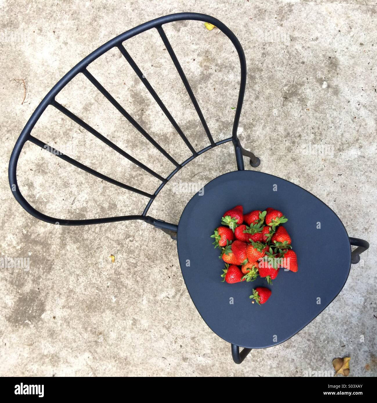 Erdbeeren Auf Stuhl Stockfoto Bild 309873171 Alamy
