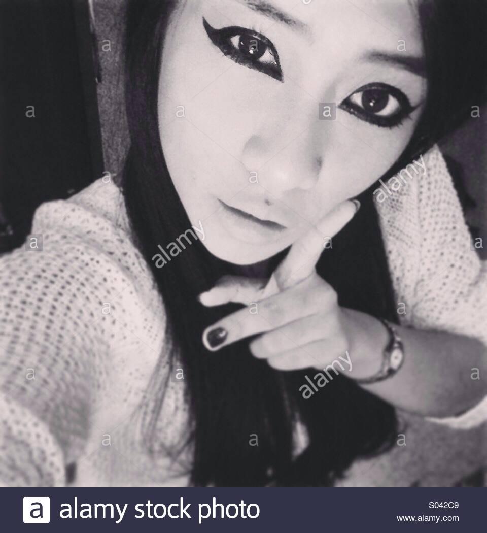 Dramatischer eyeliner Stockbild