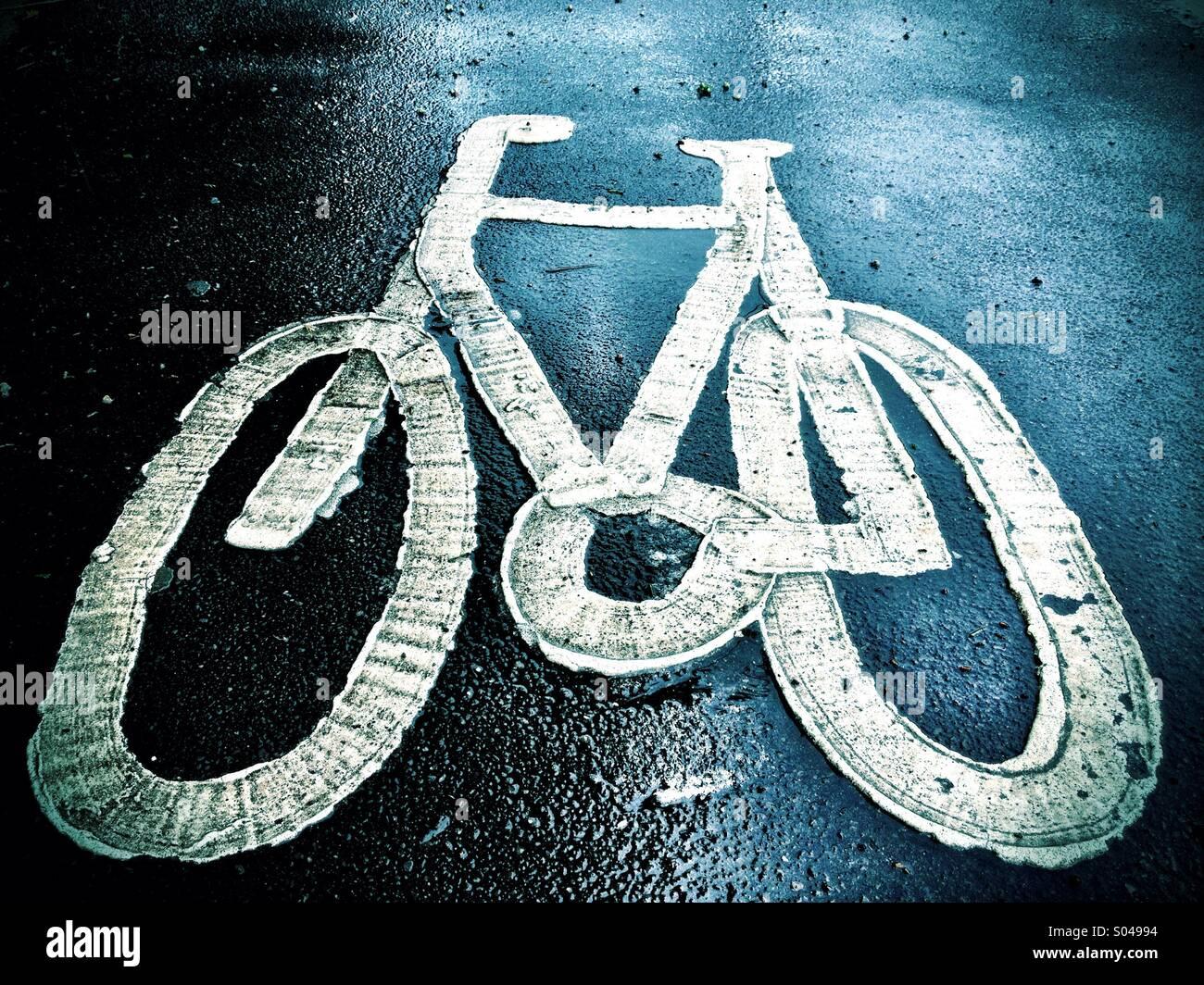 Bemalte Fahrrad Stockbild