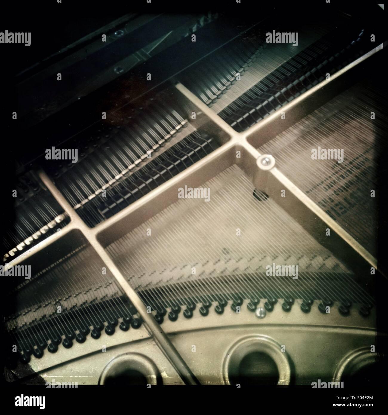 Klavier-detail Stockbild