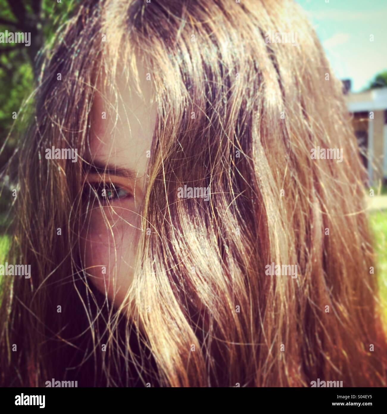 Frisur Stockbild