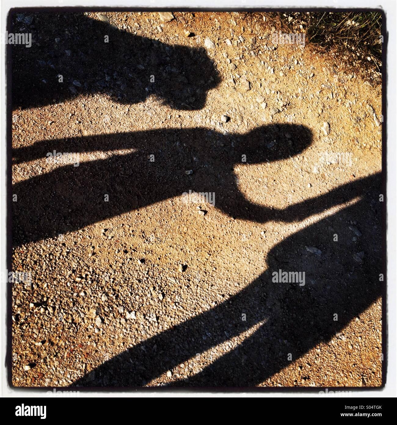 Familie Schatten Stockbild