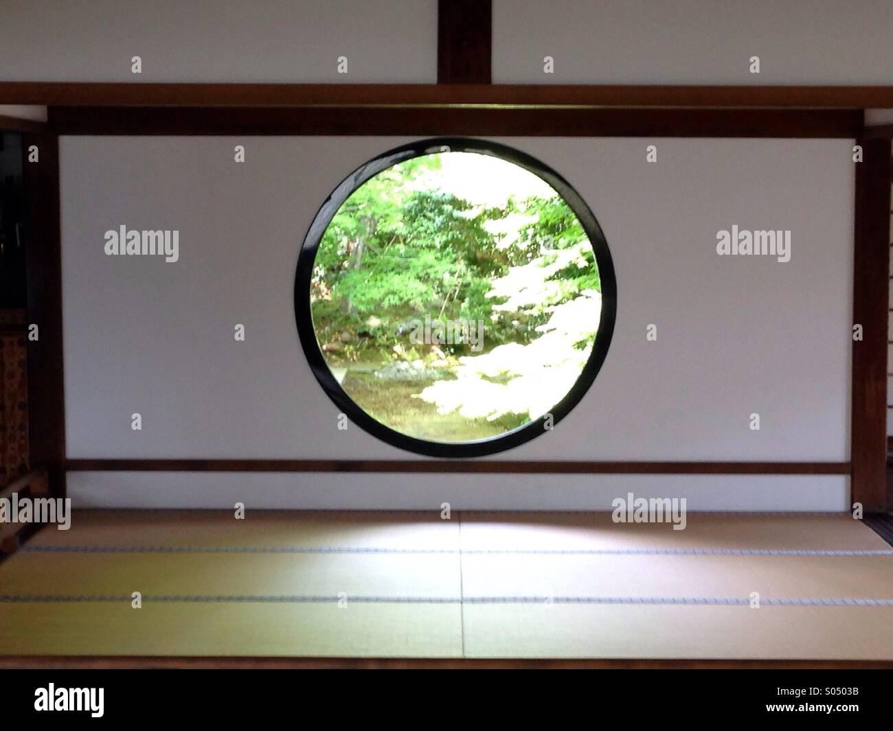 Rundes fenster im genko ein tempel kyoto japan for Traditionelles japan