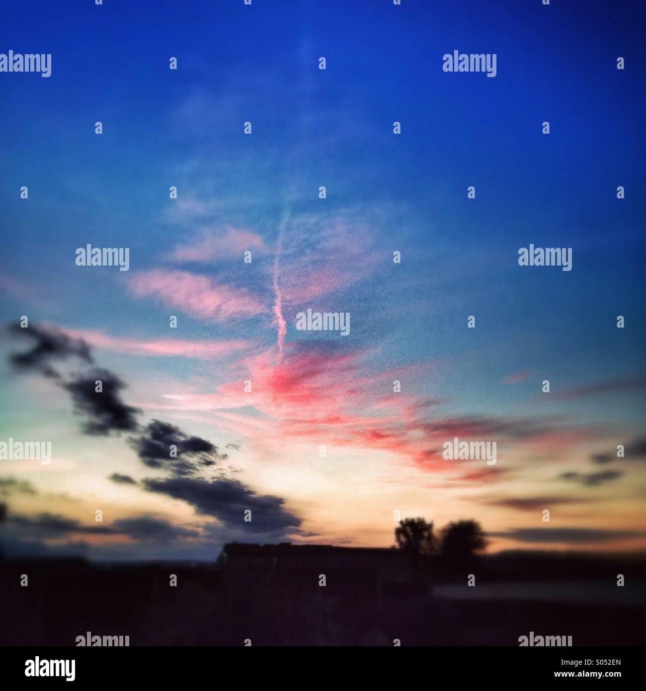 Abendhimmel Stockbild