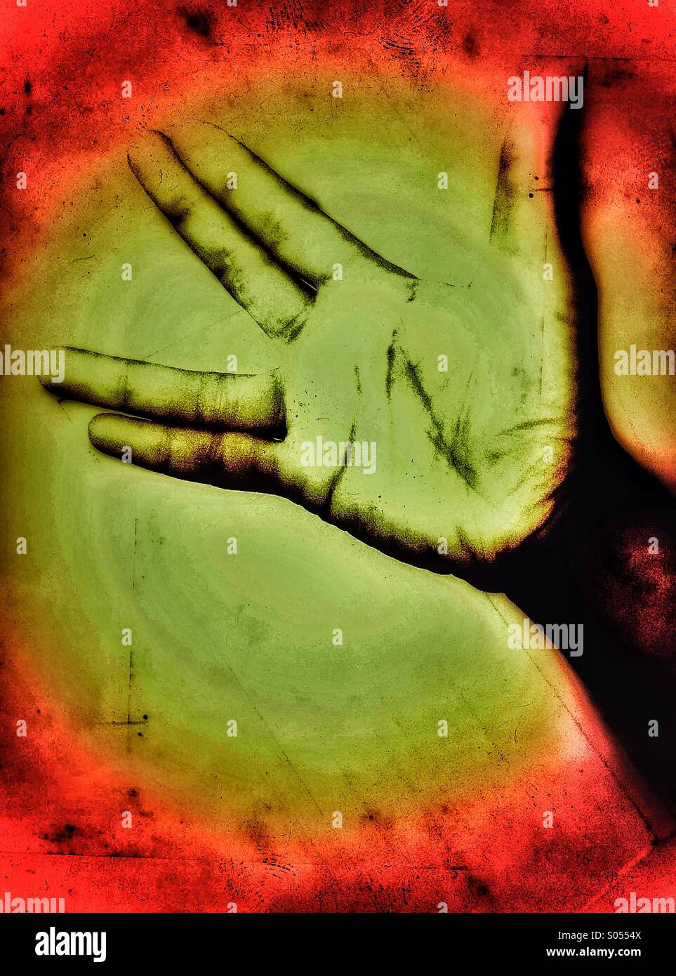 Schwarze hand Stockbild