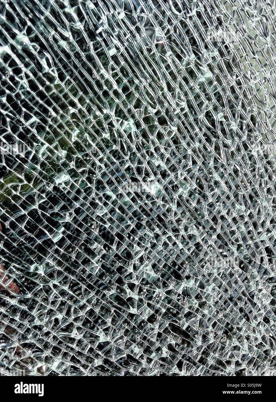 Zerschlagenen Glas Muster Stockbild