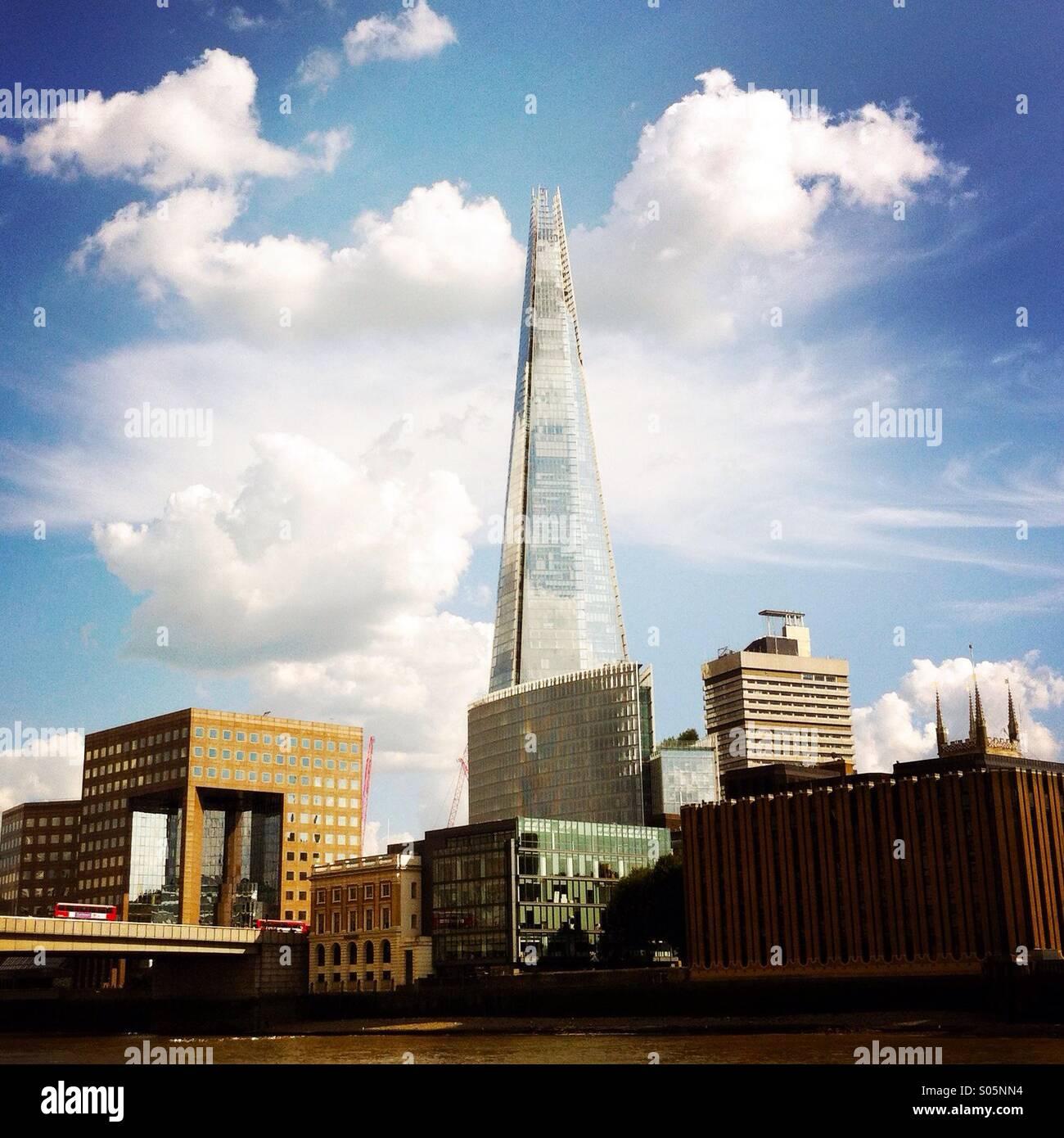 Die Scherbe und anderen Gebäuden. London England UK. Stockbild