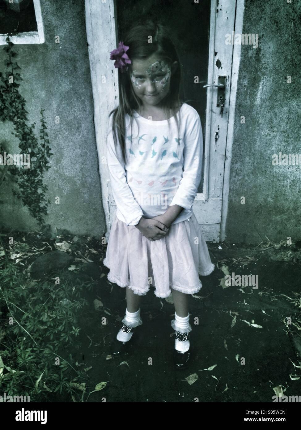 Angst vor Mädchen Stockbild