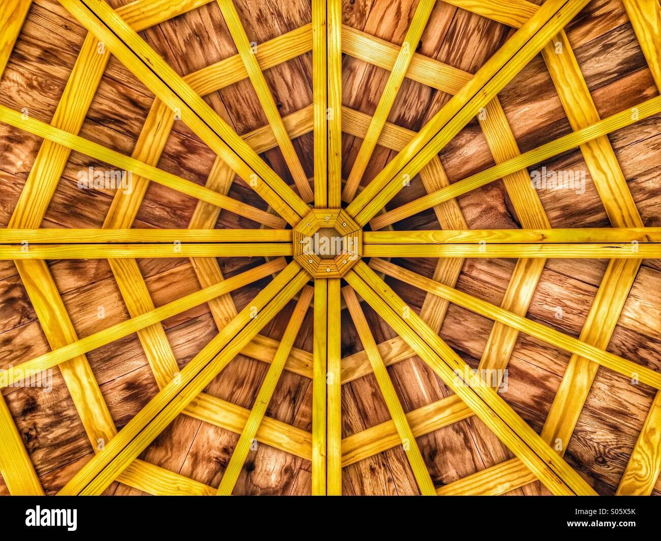 Pavillon Dach Stockbild