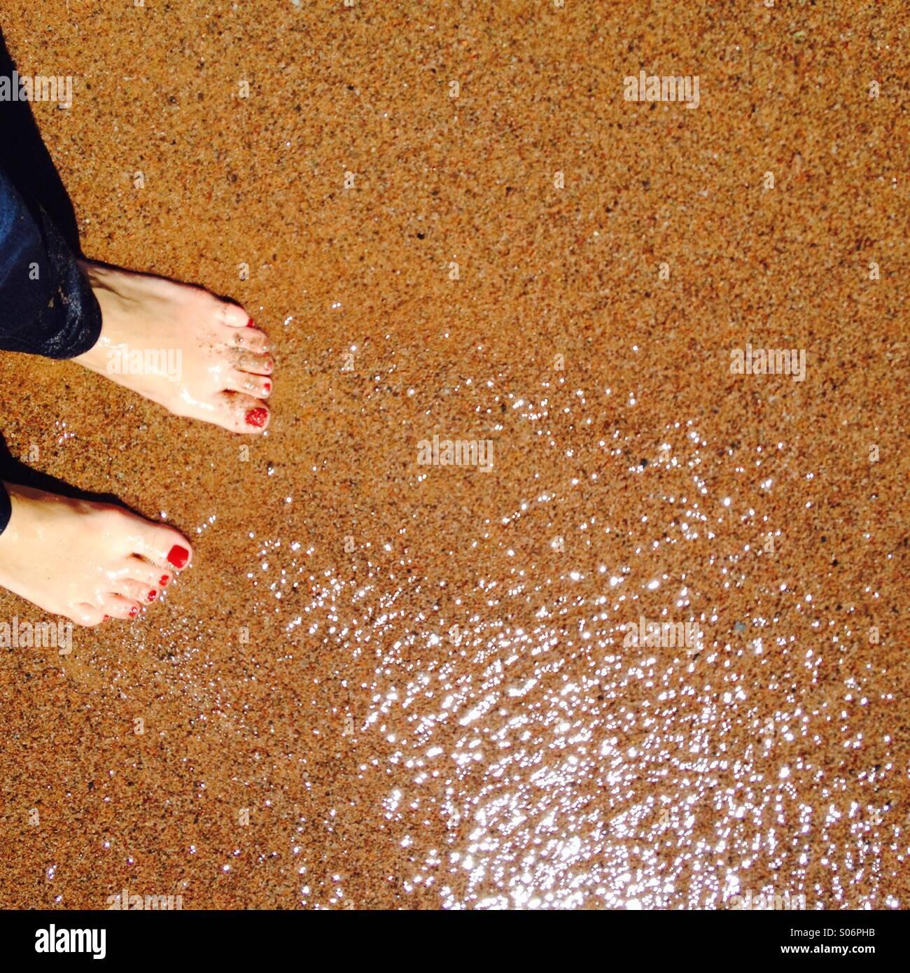 Frauen Füße Stockbild